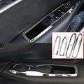 Frete Grátis ABS Chrome Interior Porta Interruptor Da Janela Tampa Moldura Do Painel Guarnição 4 Pçs/set Para 2012 2013 2014 Citroen C4 C4L