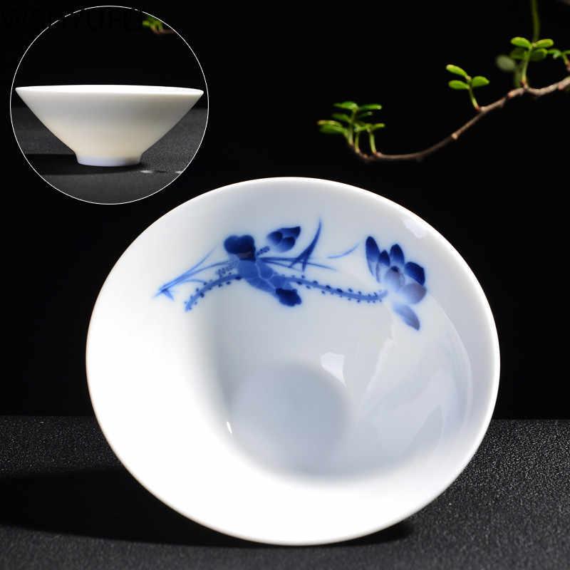 الصينية الأزرق و الأبيض الخزف الشاي عاء الكونغفو فنجان شاي صغيرة السفر المحمولة طقم شاي المنزلية الشرب أواني WSHYUFEI
