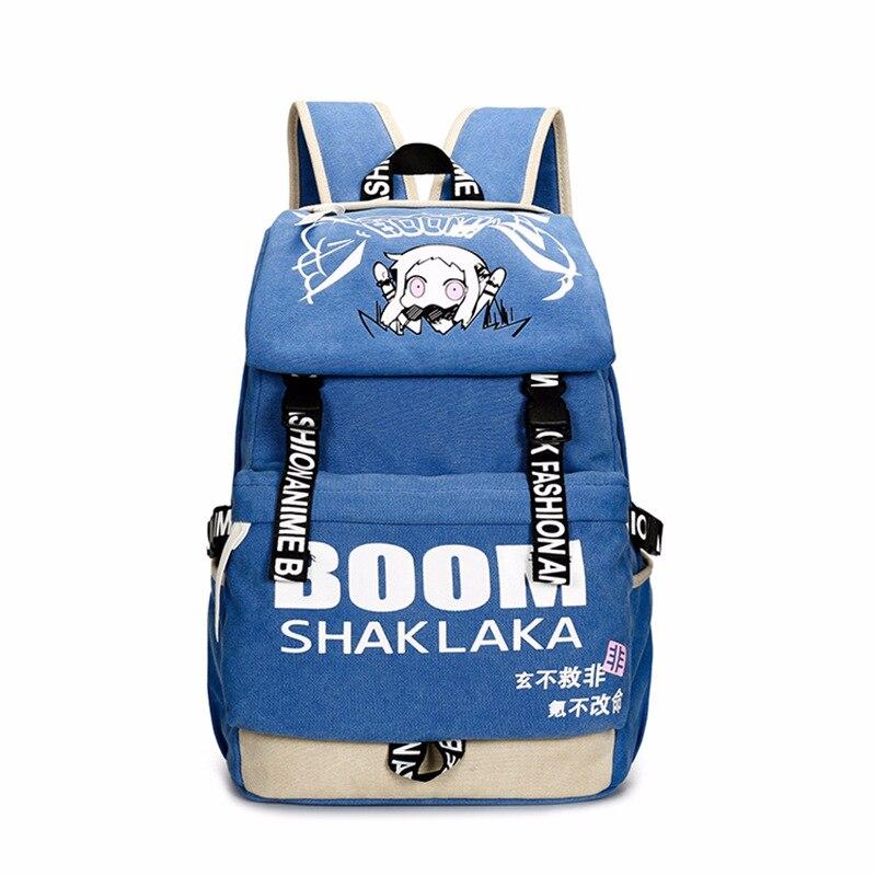 Hommes femmes garçons filles japon Anime Shaklaka Collection toile sac à dos sac à dos école livre pochette d'ordinateur Mochila