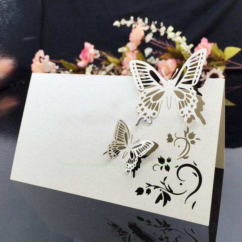Schön 100 Teile/los Laser Cut Schmetterling Tischkarten Weinglas Tabelle Mark  Glas Name Karte Hochzeit Einladungen Dekorationen Gefälligkeiten In 100  Teile/los ...