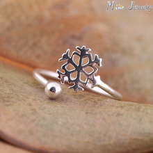 New Arrivals 925 Sterling Silver Rings Snowflake Ring Open Rings For Lady Ladies Present Jewellery