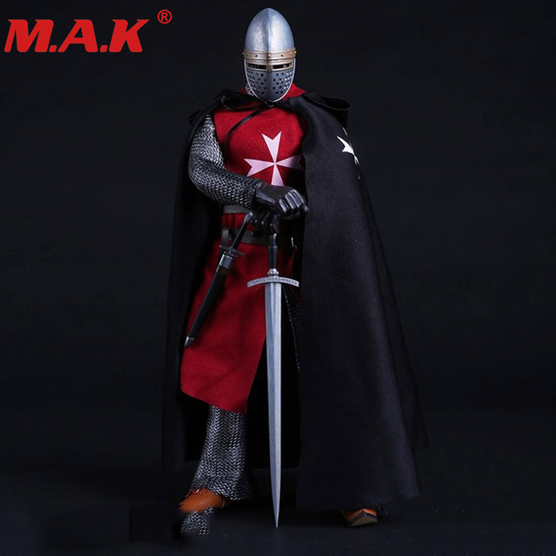 1/6 scale Knights of Malta ancient medieval action figure soldier type set for 12'' action figure body for collection gifts zh008 collections 1 6 greece shield spearmen soldier action figure model toys teutonic knights medieval knight figure model