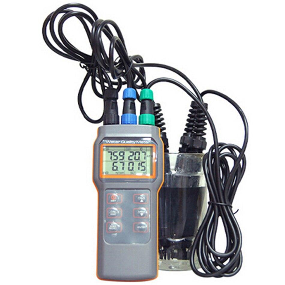 AZ8603 compteur de qualité d'eau numérique testeur d'oxygène dissous ph-mètre Conductivit température de salinité avec ph-mètre