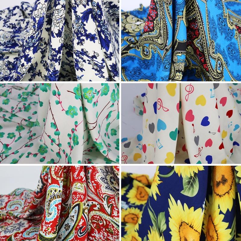 Soft Dress Fabric Rayon Viscose Cotton Material Patchwork