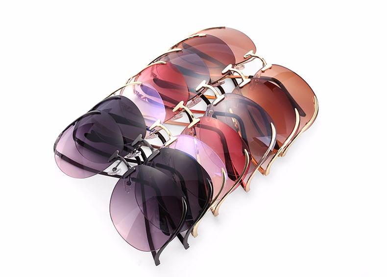 Oversized Glasses Rimless Last 5