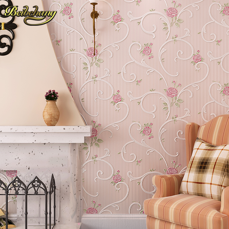 beibehang wall paper papel de parede 3d Korean garden flower pink romantic wedding room bedroom wallpaper shop for living beibehang papel de parede 3d dimensional relief korean garden flower bedroom wallpaper shop for living room backdrop wall paper page 8