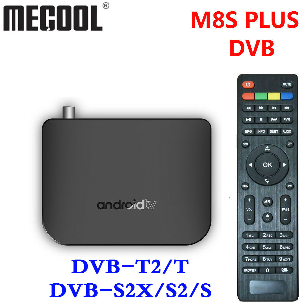 M8S PLUS DVB Smart 4K Android 7.1 TV Box DVB-T2/T DVB-S2X/S2/S Terrestrial Combo Amlogic S905D Quad Core 1GB 8GB 1080p