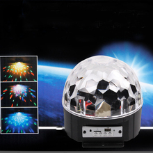 BLUETOOTH MP3 Crystal Magic Rotating Ball Remote control 9 colors RGB disco balls lights for parties/LED Stage Lights Christmas