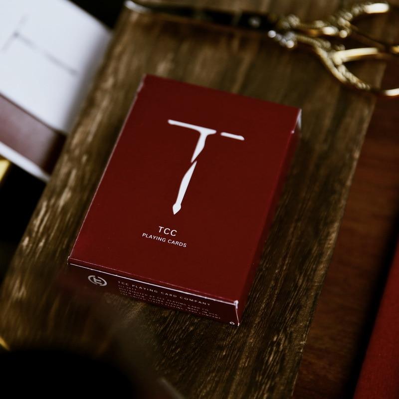 1Pcs New Sword T Poker Red Or Black Color Playing Card USPCC TCC Magic Deck Porps Magia Tricks
