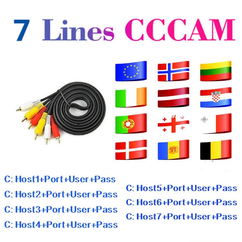 Fast Stable Europe Cccam 7 Lines Share Sever For Gtmedia DVB-S2 Freesat V7S HD V8 Super V9 Support Spain Germany Italy