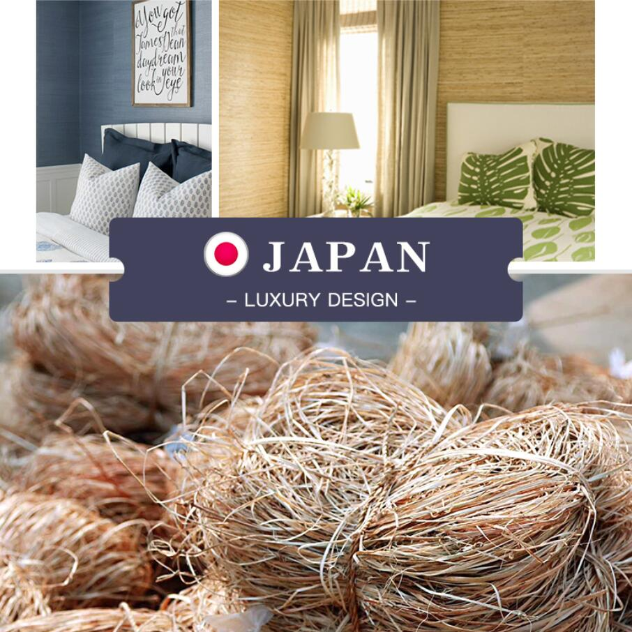 2019 MYWIND Grasscloth Wallpapers Luxury Natural Material 3D Paper Weave Design Wallpaper In Roll Decor damask bedroom in Wallpapers from Home Improvement