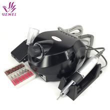Professional Black Electric  Nail Manicure File Manicure Kit 220V Eu Plug Nail Tools for Nail Gel
