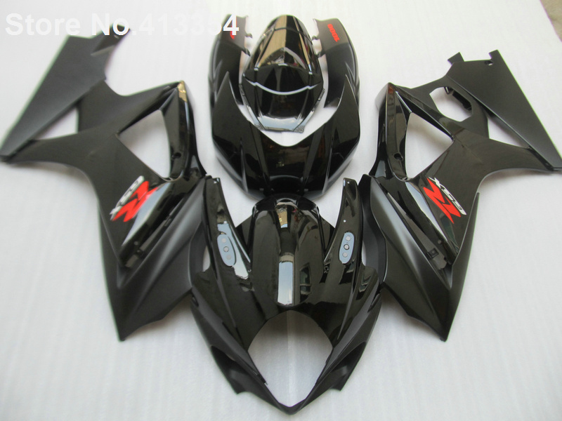 For Suzuki GSXR 1000 07 08 K7 K8 Glossy Black Motorcycle Fairing Kit GSXR1000 2007 2008 HH03