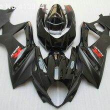 Для Suzuki GSXR 1000 07 08 K7 K8 глянцевый черный обтекатель для мотоцикла комплект GSXR1000 2007 2008 HH03