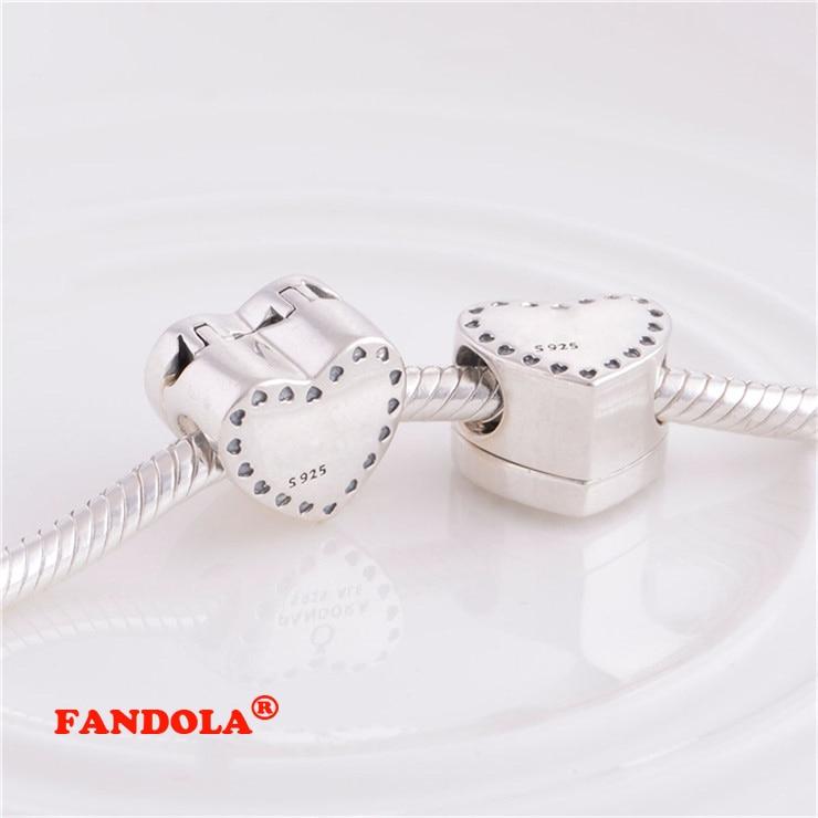 Pandora Charms Bilezikler için uygun Kalp Boncuk 14 K Altın Kaplama - Takı - Fotoğraf 3