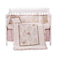 8ピースベビーベッド幼児ルーム子供赤ちゃんの寝室セット保育園bedding花ベビーベッドbeddingセット用新生児女の子