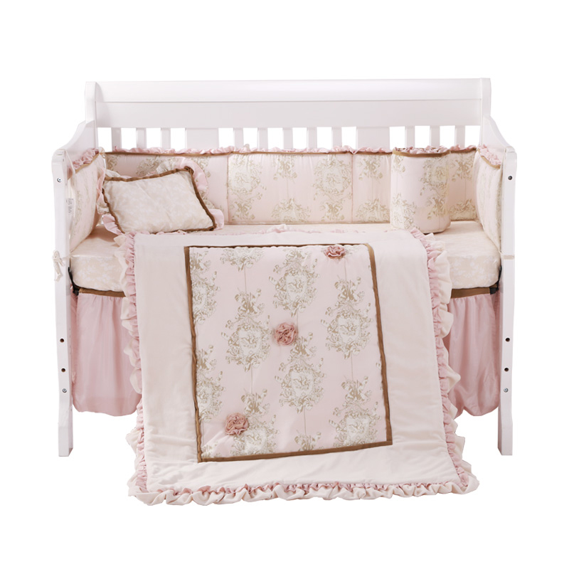 US $133.59 21% OFF|8Pc Crib Infant Room Kids Baby Bedroom Set Nursery  Bedding Floral cot bedding set for newborn baby girls-in Bedding Sets from  ...