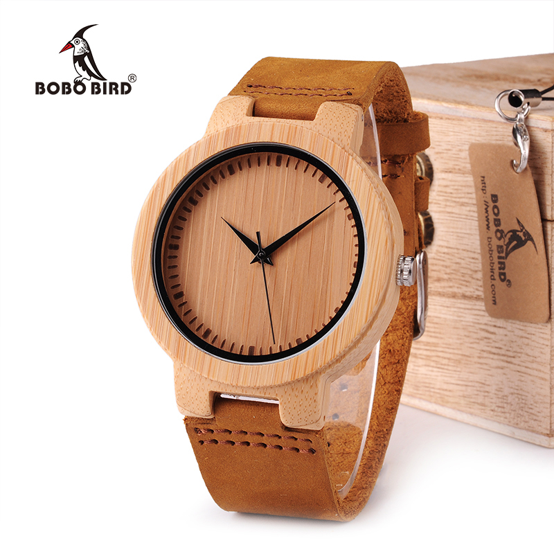BOBO BIRD WD13 Men's Design Brand Luxury Wooden Bamboo Watches With Real Leather Band Watch for Men in Wood Box все цены