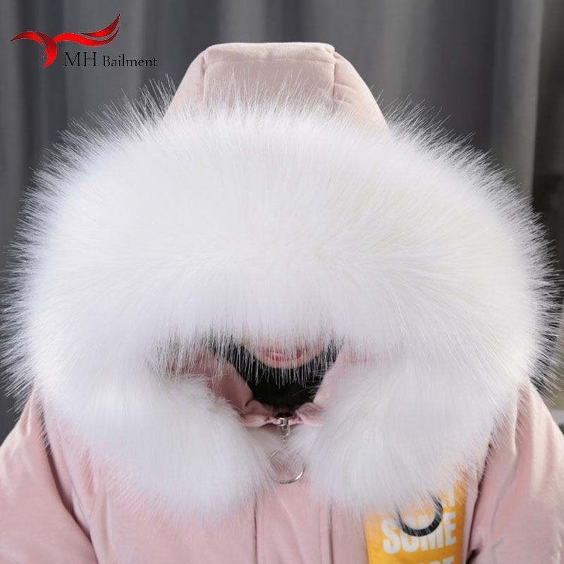 Winter Imitation Raccoon Fur Fox Fur Collar Hat Down Jacket Cap Fur Collar Coat Collar Color Scarf Unisex Shawl