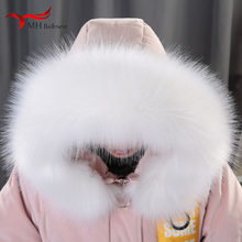 Winter imitation raccoon fur fox fur collar hat down jacket cap fur collar coat collar color scarf unisex shawl(China)