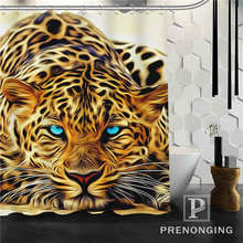 Personalized Custom Animal Leopard Shower Curtain Home Decor Bathing Curtains Cloth Waterproof Polyester W02 S171218