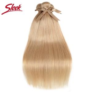 Image 2 - Sleek Remy Braziliaanse Hair Weave Bundels 10 26 Inch Straight Menselijk Haar Extension Honey Blonde # P27/16 /613 Haar Weave Bundels