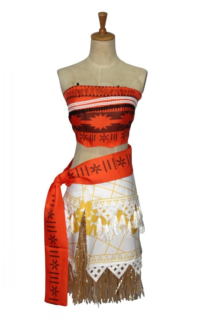 Costumebuy Princess Moana Cosplay Costume Moana Dress for Adult Women Girl Child Kids Halloween Fancy Dress