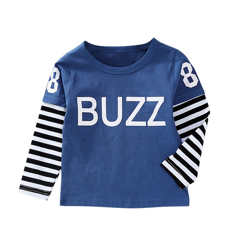 Baby Boy Tops Cotton Clothes Autumn Long Sleeve Baby Boy T-Shirt Letter Print Kids Boys Clothes Top 1-6Y