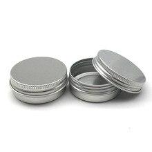 50 шт 30 г алюминиевые банки 1 унция серебряные алюминиевые банки для крема 30 мл алюминиевый контейнер для олова 30 мл Алюминиевая жестяная банка