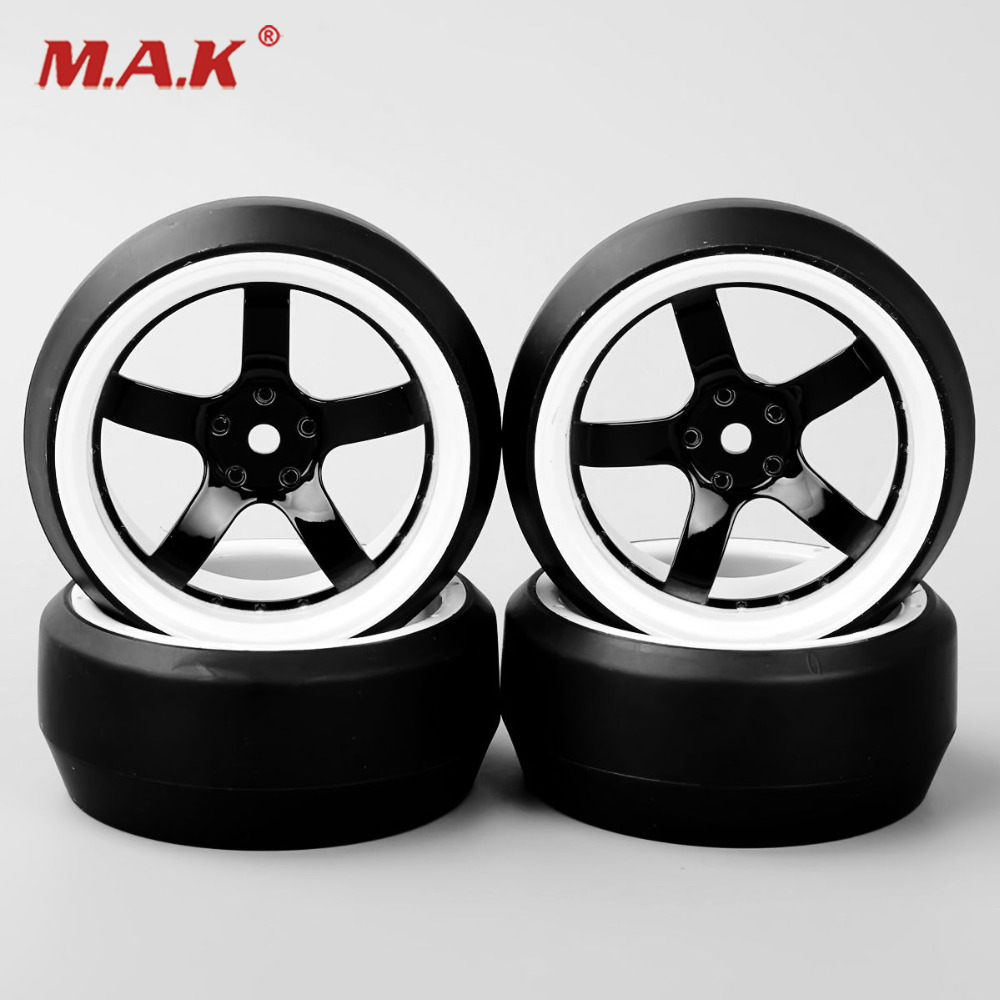 RC 1/10 Drift Car Tires 0 Degree Tyre Wheel Rim For HPI HSP On Road Speed Racing Car Accessories