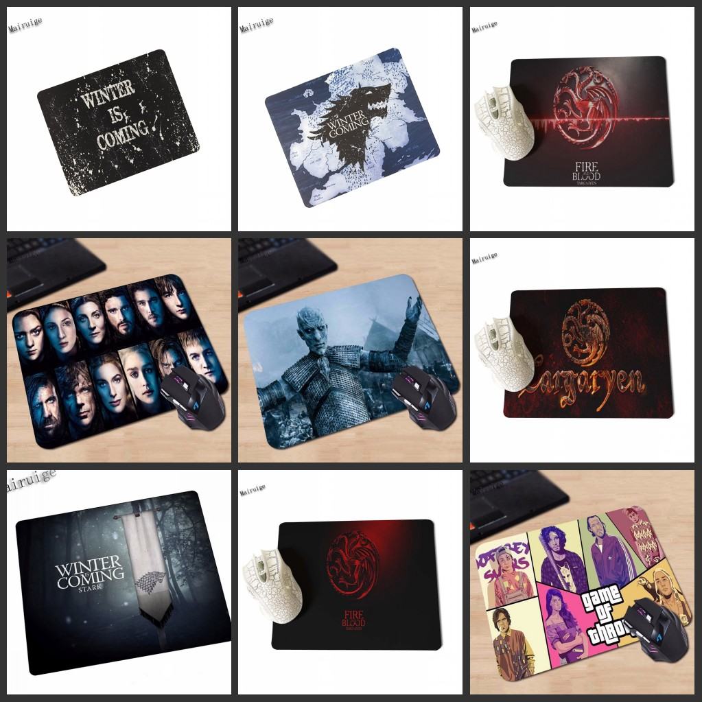 Mairuige Mairuige Game Of Thrones  Winter Is Coming Silicon Non-slip Mousepad Computer Gaming Mouse Pad Mat 220mm X 180mm X 2mm