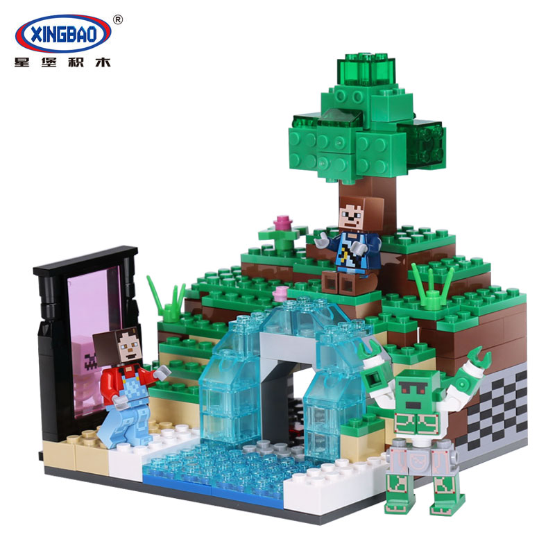 Xingbao 09001 Creative MOC Series The Blocks Life Set children Building Blocks Bricks Educational legoinglys Toys For Model Gift xingbao 06009 military series the extreme snowmobiling sets legoinglys building nano blocks bricks toys for children kids