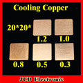 CK  Computer Cooling Copper 20*20*0.3 mm 0.5/0.8/1.0/1.2 Copper Heatsink Thermal Heat Conductive Pad for Laptop VGA GPU CPU