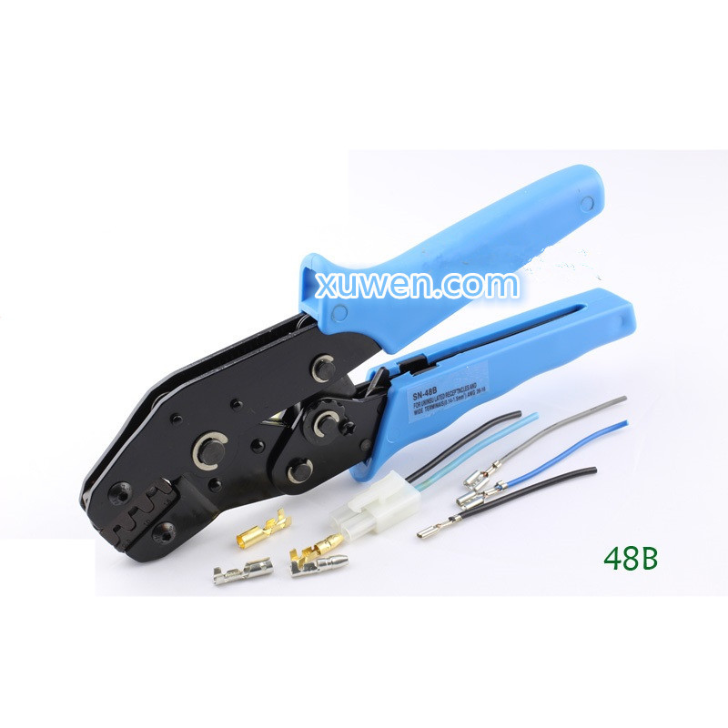 Freies Verschiffen 1/pcs 48b Tab 0,5-1.5mm2 Terminal Crimpzange Werkzeug Auto-stecker ~ Werkzeuge