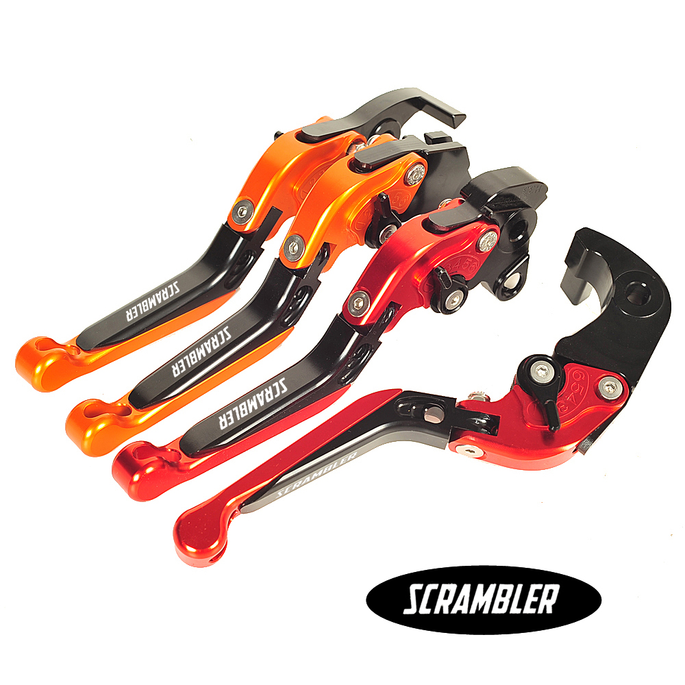 CNC Aluminum Motorcycle Foldable Lever Motobike Brake Clutch Levers Case for Ducati Scrambler 2015 2016 cnc foldable