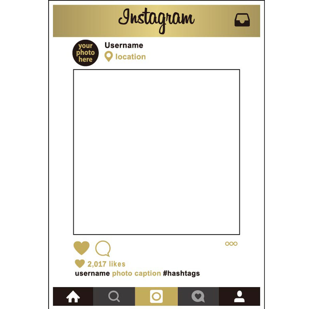 1pcs Insta Social Media Photo Frame Booth Prop Paper Photo Booth