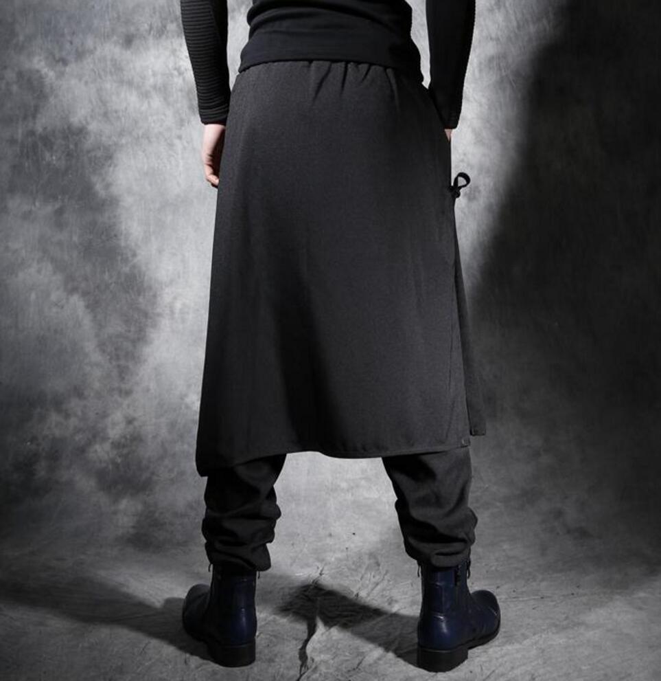 Casual Los 2018 Bigbang Harem De Falso Ropa Negro Dos 27 Pantalones Personalidad Estilista Moda 44 Piezas Floja Hombres Nuevo Trajes 4ptOqxw4