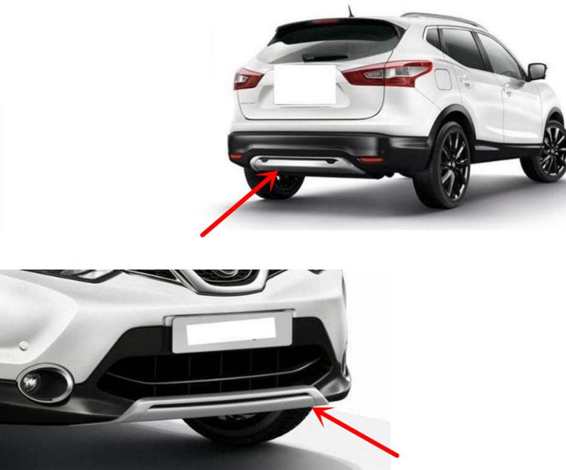 for Nissan QASHQAI J11 Stainless Steel CHROME Rear Bumper Protector Scratch Guard Cover 2014-2017