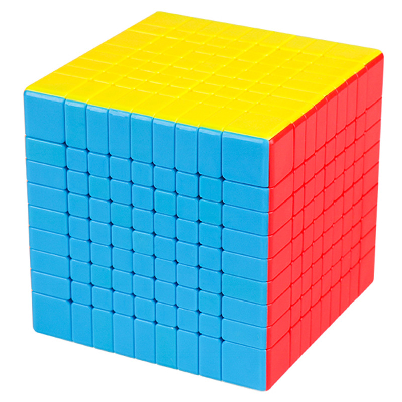 MoYu 75mm MF9 compétition professionnelle cube magique vitesse lisse haute qualité autocollant coloré Puzzle cube classique jouets néo Cube