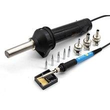8032 ヒートガン電動工具熱風銃 220 V 420 BGA リワークはんだステーション + 温度調節可能な電気はんだごて