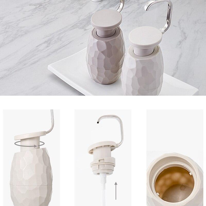 Soap-Dispenser Shower-Gel-Bottle Facial-Cleanser Bathroom One-Hand Hotel 400ml for Home