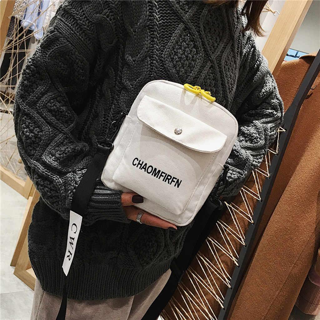 Wanita Murni Warna Tote Kasual Luar Ruangan Tas Kanvas Tas Ritsleting Tas Bahu Kapasitas Besar Kecil Square Paket