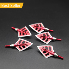 6Pcs/Lot Hot Seller Hunting Broadheads Red 125 Grain Universal Replaceable Arrowhead Bows And Arrows Shooting Hunting Crossbow
