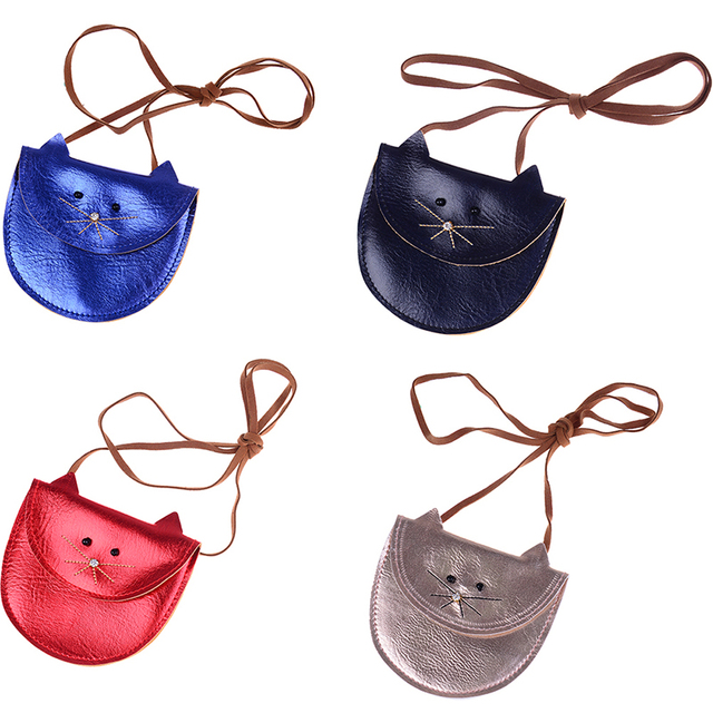 Mini Cute Cat Shoulder Bag Kids Key Coin Purse Lovely Bag Little Girl's Present