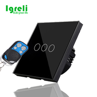EU Standard Igreli Wireless Remote Controller Light Switches Touch Switch Touch Wall Switch