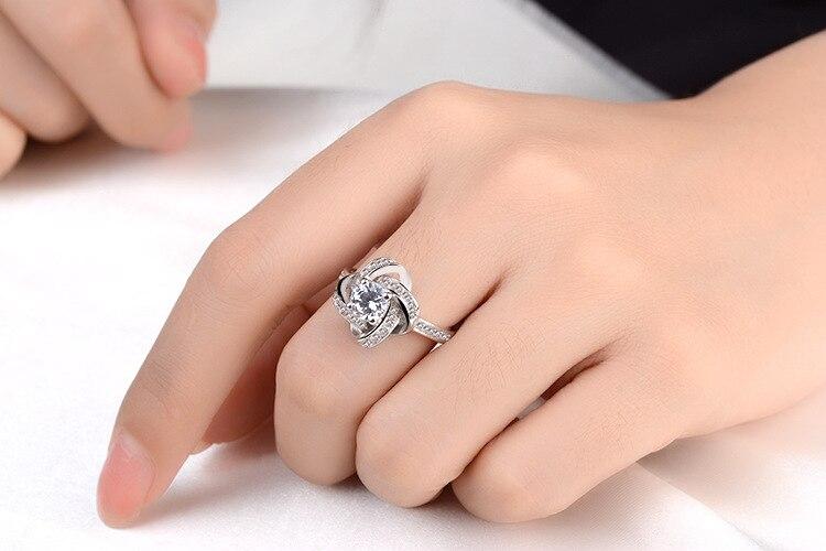 DIEERLAN 19 Bridal Jewelry Sets 925 Sterling Silver Crystal Cross Clover Flower Necklaces for Women Wedding Jewelry Bijoux 7