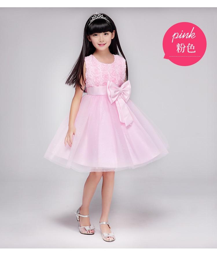 Girls Dress Children Clothing Princess Summer Wedding Party Girls - Ubrania dziecięce - Zdjęcie 5