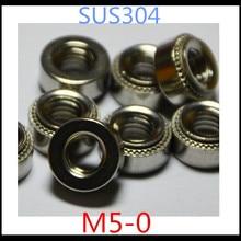 100 шт./лот высокое качество M5-0 Нержавеющая сталь 304 Зажимная гайка высокого давления/самозажимные гайки