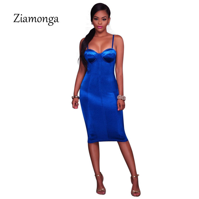Ziamonga Summer Party Dresses Sexy Club Night Bodycon Dress Elegant  Spaghetti Strap Tight Strapless Bandage Women Dress Vestidos-in Dresses  from Women s ... 4b2c490caab7