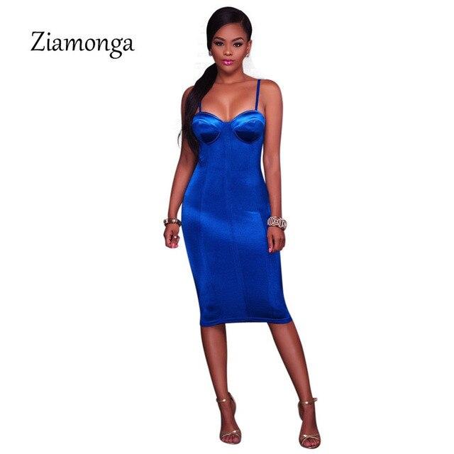 Ziamonga Summer Party Dresses Sexy Club Night Bodycon Dress Elegant Spaghetti Strap Tight Strapless Bandage Women Dress Vestidos